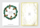 Vector Tropical floral botanical flowers Engraved ink art Wedding background card decorative border