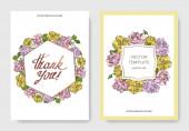 Vector Rose floral botanical flowers Engraved ink art Wedding background card floral decorative border