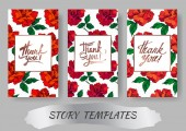 Vector Rose floral botanical flowers Red and green engraved ink art Wedding background card floral decorative border