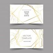 Vector Summer beach seashell tropical elements Golden engraved