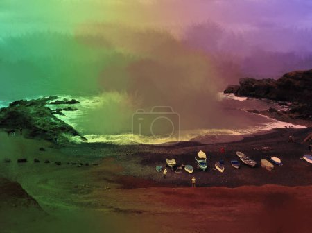 Photo for Beautiful view of colored seashore - Royalty Free Image