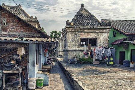 Photo pour Vieille ville de Yogyakarta au centre de Java, Indonésie - image libre de droit