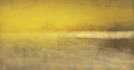 Foto de Pintura de paisaje abstracta en el estilo de trazo de pincel, arte digital - Imagen libre de derechos