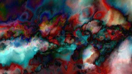 Photo pour Concept de fond coloré créatif dans l'art numérique - image libre de droit