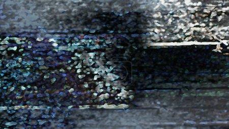Foto de Abstract terrain background with structures and forms, digital art - Imagen libre de derechos