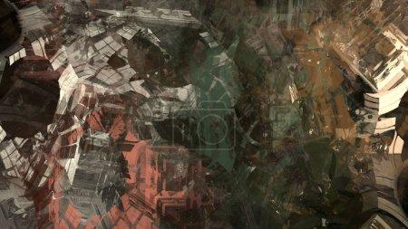 Photo pour Formation rocheuse géologique abstraite, art numérique - image libre de droit