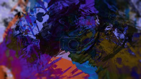 Photo for Abstract color background with colorful paint - Royalty Free Image