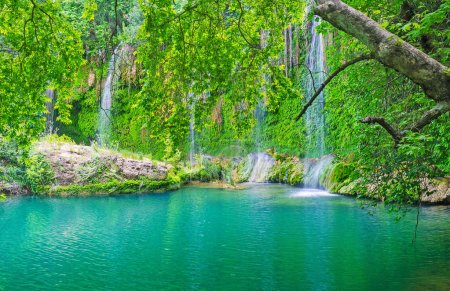 Kursunlu waterfall is surrounded by