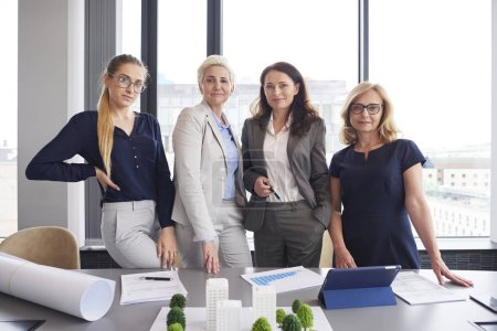Photo for Portrait of four businesswomen in the office - Royalty Free Image