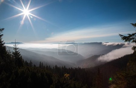 Photo for Scenic view of fascinating landscape of mountain Syvulya, Carpathian, Ukraine - Royalty Free Image