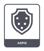 aspis icon in trendy design style aspis icon isolated on white background aspis vector icon simple and modern flat symbol for web site mobile logo app UI aspis icon vector illustration EPS10