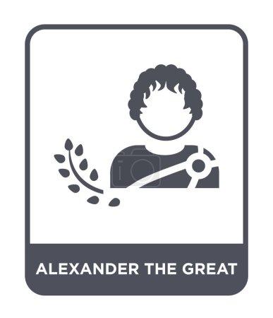 alexander the great icon in trendy design style. alexander the great icon isolated on white background. alexander the great vector icon simple and modern flat symbol.