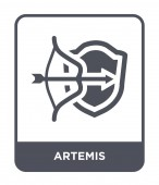 artemis icon in trendy design style artemis icon isolated on white background artemis vector icon simple and modern flat symbol