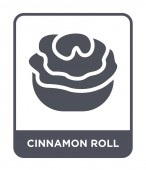 cinnamon roll icon in trendy design style cinnamon roll icon isolated on white background cinnamon roll vector icon simple and modern flat symbol