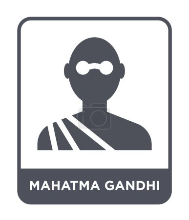 mahatma gandhi icon in trendy