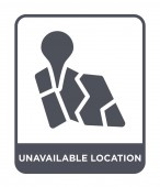 unavailable location icon in trendy design style unavailable location icon isolated on white background unavailable location vector icon simple and modern flat symbol