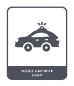 police car with light icon in trendy design style police car with light icon isolated on white background police car with light vector icon simple and modern flat symbol