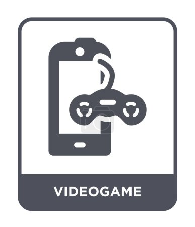Videospielikone im trendigen Design-Stil. Videospiel-Symbol isoliert auf weißem Hintergrund. Videospielvektorsymbol einfaches und modernes flaches Symbol.