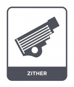 zither icon in trendy design style zither icon isolated on white background zither vector icon simple and modern flat symbol