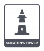 smeaton's tower icon in trendy design style smeaton's tower icon isolated on white background smeaton's tower vector icon simple and modern flat symbol