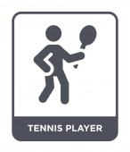 tennis player icon in trendy design style tennis player icon isolated on white background tennis player vector icon simple and modern flat symbol