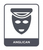 anglican icon in trendy design style anglican icon isolated on white background anglican vector icon simple and modern flat symbol