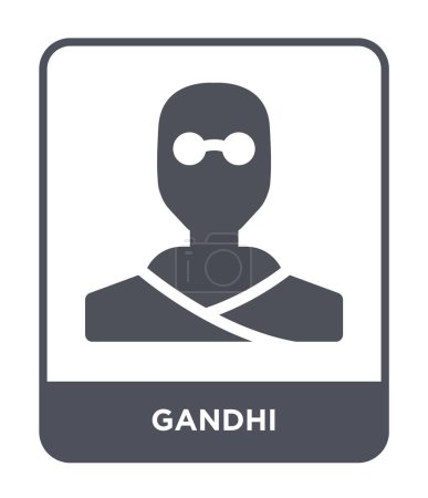 gandhi icon in trendy design