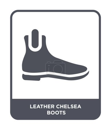 leather chelsea boots icon in