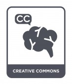creative commons icon in trendy design style creative commons icon isolated on white background creative commons vector icon simple and modern flat symbol
