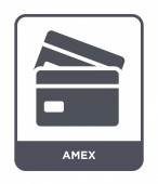 amex icon in trendy design style amex icon isolated on white background amex vector icon simple and modern flat symbol for web site mobile logo app UI amex icon vector illustration EPS10