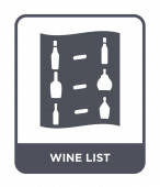 wine list icon in trendy design style wine list icon isolated on white background wine list vector icon simple and modern flat symbol