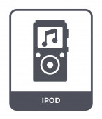 ipod icon in trendy design style ipod icon isolated on white background ipod vector icon simple and modern flat symbol for web site mobile logo app UI ipod icon vector illustration EPS10