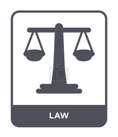 Illustration pour Icône de la loi dans le style design à la mode. icône de loi isolé sur fond blanc. icône vectorielle de loi symbole plat simple et moderne pour le site Web, mobile, logo, application, interface utilisateur. illustration vectorielle d'icône de droit, EPS10 . - image libre de droit