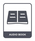 audio book icon in trendy design style audio book icon isolated on white background audio book vector icon simple and modern flat symbol