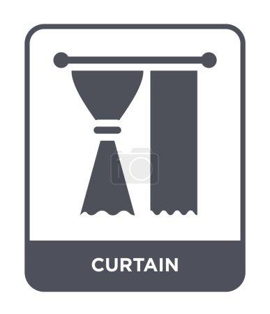 Illustration pour Icône rideau dans le style design à la mode. icône rideau isolé sur fond blanc. icône vectorielle rideau symbole plat simple et moderne . - image libre de droit