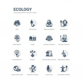 simple set of icons such as eco energy power recycling tree with hearts global recycling renewable energy sustainable factory energy sustainability electric station natural product related