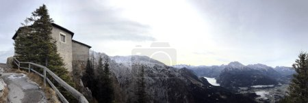 Panoramic view on Kehlsteinhaus Eagles