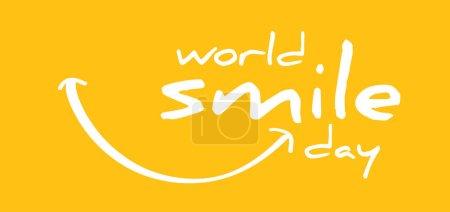 Illustration pour Happy world smile day, souriant National big happiness Fun thoughts emoji face emotion smiley Laughter lip symbol Lèvres souriantes, bouche, langue Dents drôles Motif vecteur rire dessin animé Lol rire haha - image libre de droit