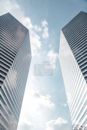 Photo for Modern tall skyscrapers against blue sky at Singapore - Royalty Free Image