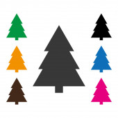 Frey flat style conifer spruce on white background Fir-tree Spruce icon conifer vector eps10