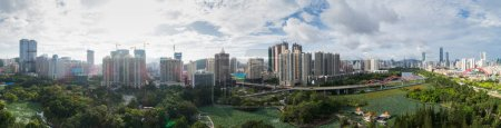 Photo for Aerial panorama view of shenzhen city,China - Royalty Free Image