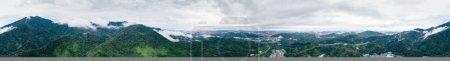 Photo pour Vue aérienne du paysage après la pluie dans la ville de Shenzhen, Chine - image libre de droit