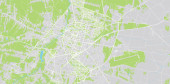 Urban vector city map of Radom Poland