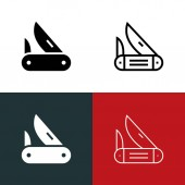 Pocket Knife Icon Set