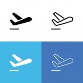 Flight Departure Icon Set