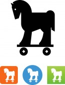 Trojan horse symbol for download Vector icons for video mobile apps Web sites and print projects