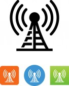 Radio station tower vector icon