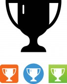 Trophy cup vector icon