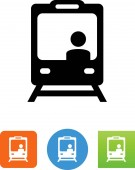 Train with driver vector icon