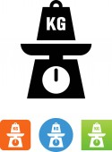 Scale With Kilogram Weight Icon